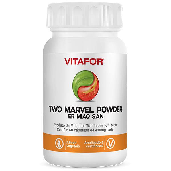 Two Marvel Powder em60 Er Miao 60 Caps de 430 mg MTC Vitafor