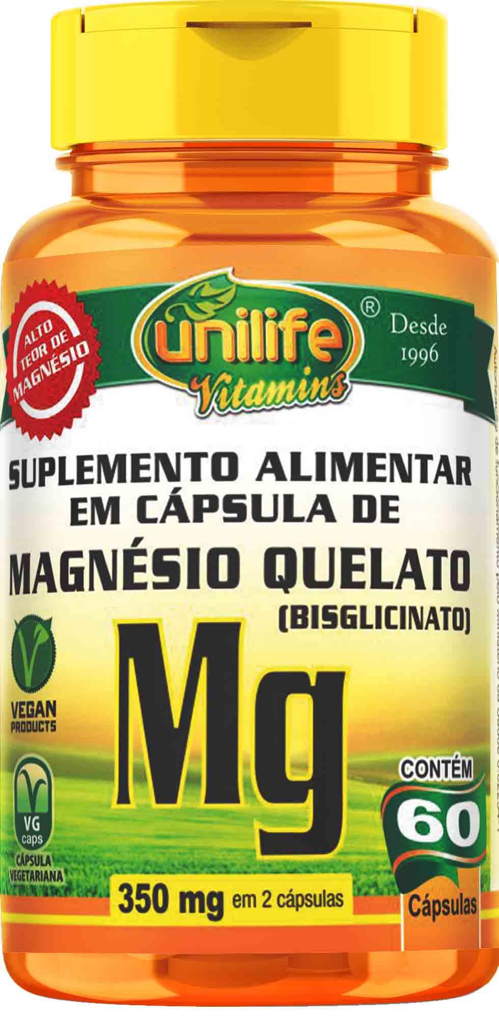 """UNI MAGNESIO QUELATO """"MG"""" - 60 CAPS Unilife"""