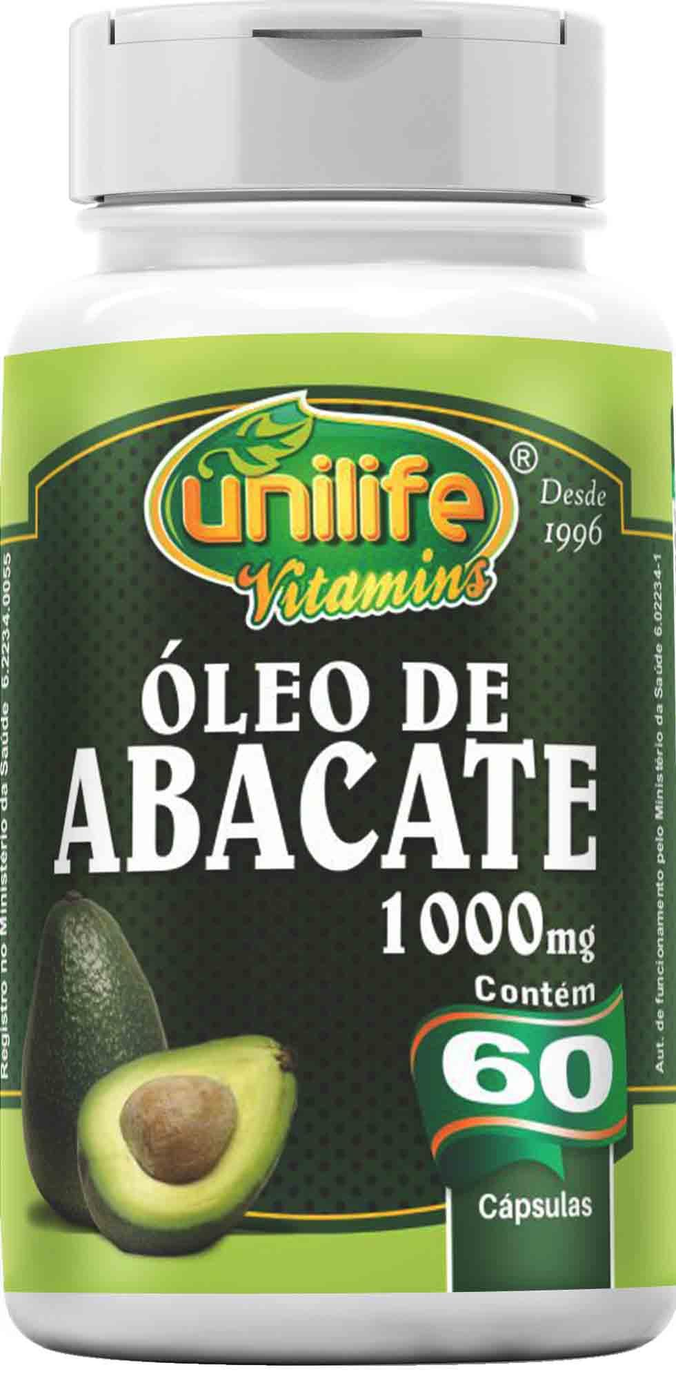 UNI OLEO DE ABACATE 1200 MG - 60 CAPS Unilife