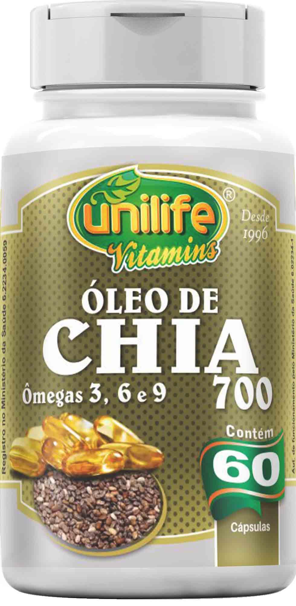 UNI OLEO DE CHIA 700 MG - 60 CAPS Unilife