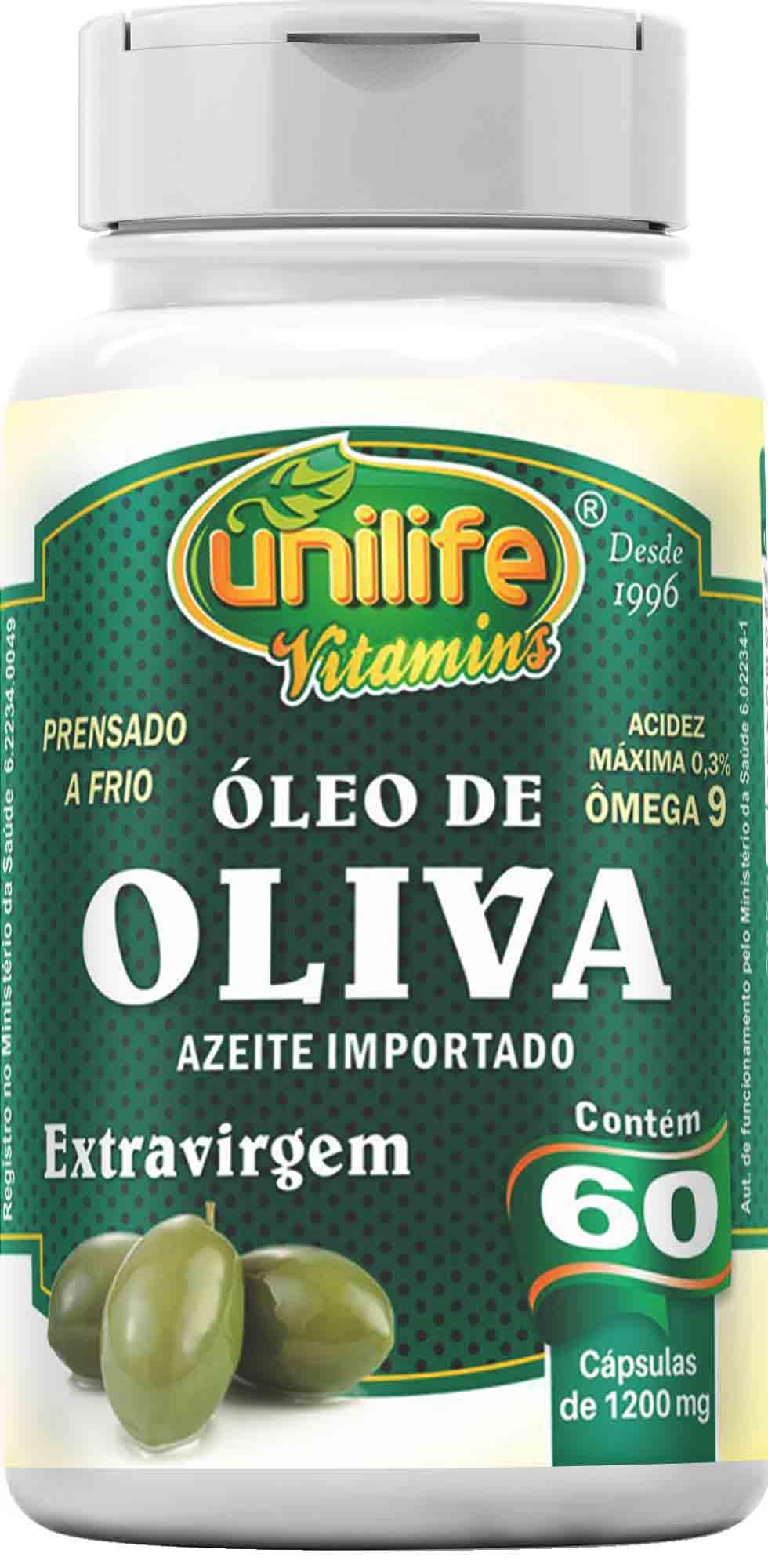 UNI OLEO DE OLIVEIRA 1200 MG - 60 CAPS