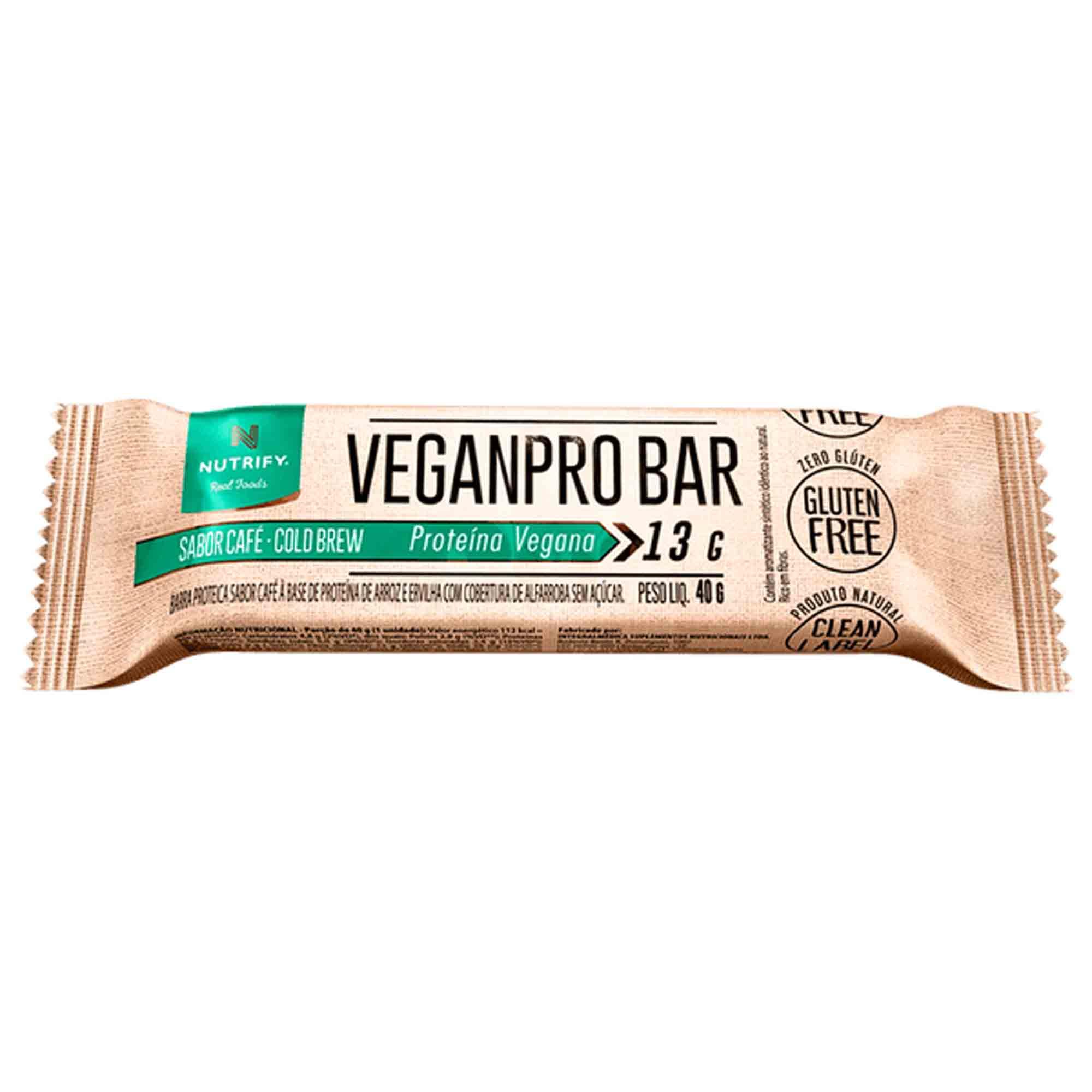 Veganpro Bar sabor Coffee 13g Nutrify
