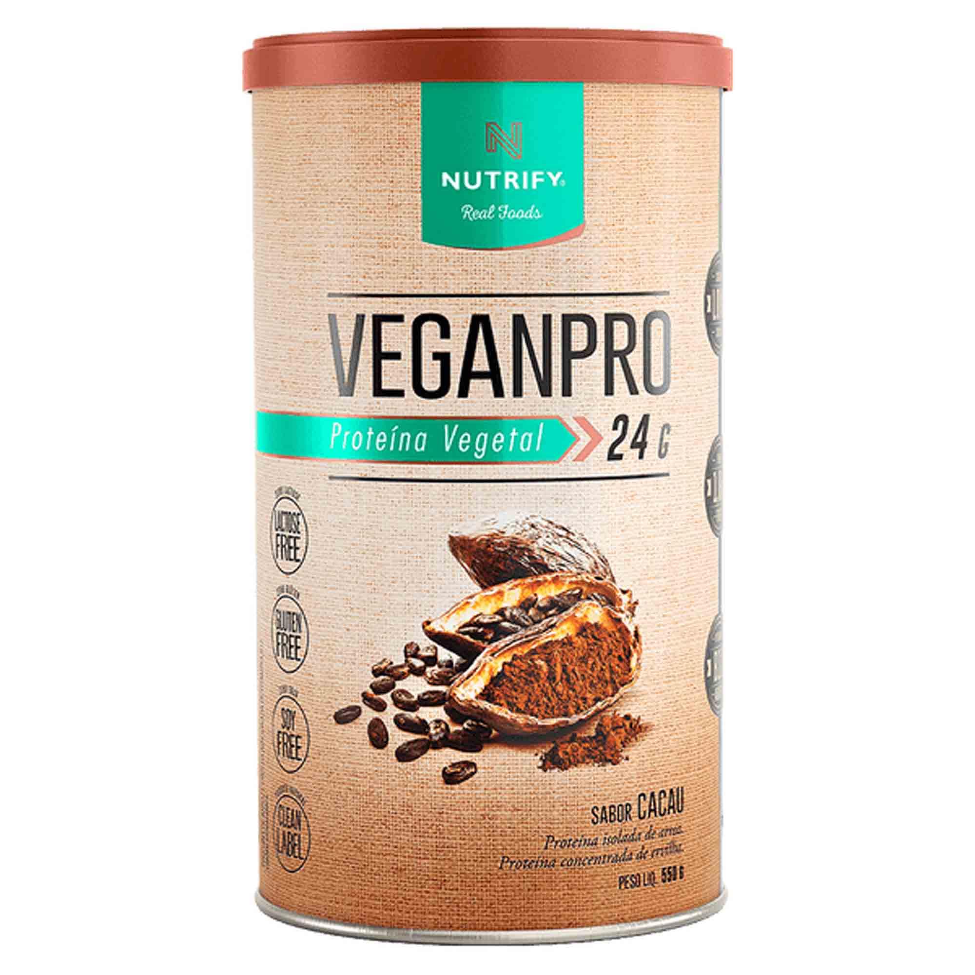 Veganpro sabor Cacau 550g Nutrify