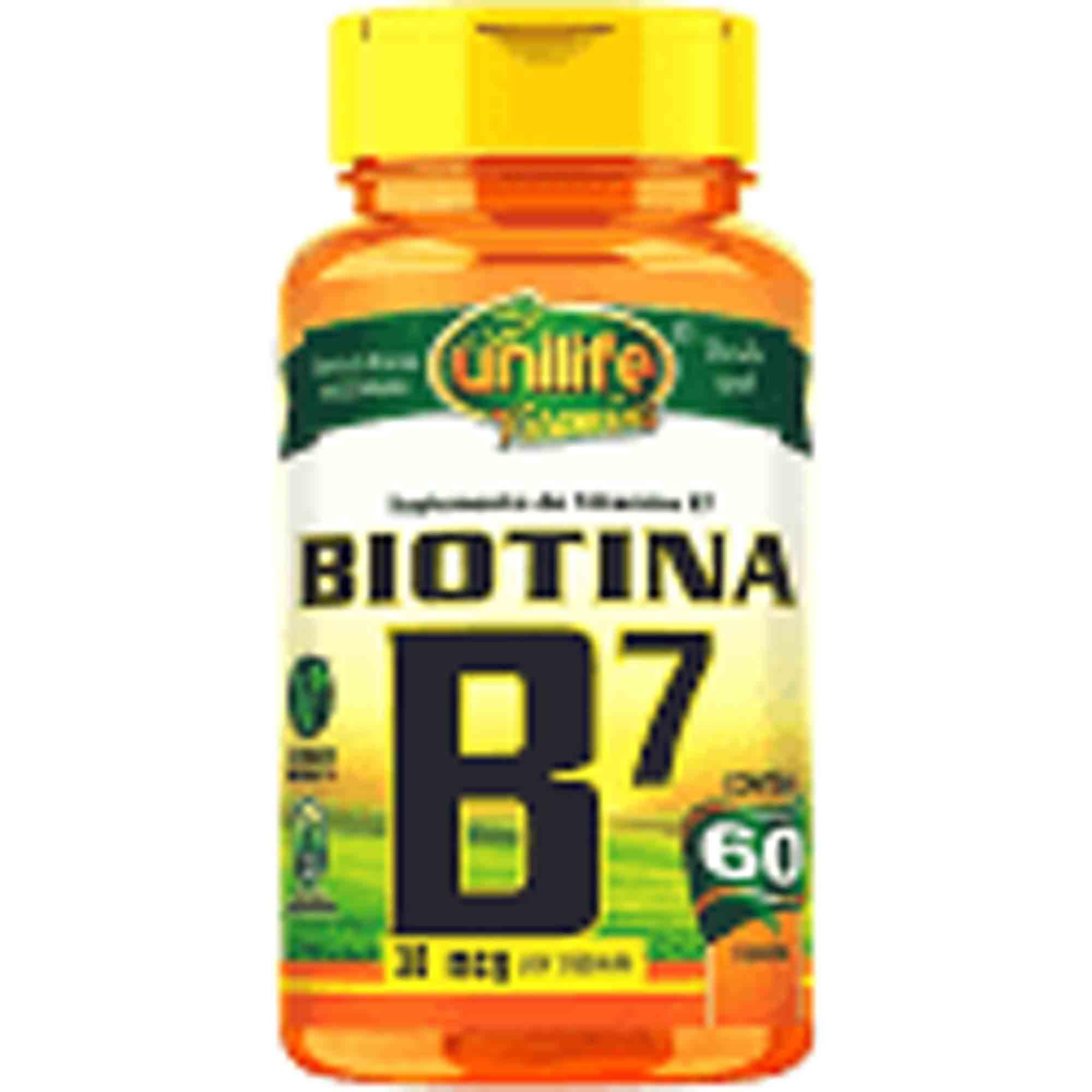 Vitamina (Biotina) B7 60caps 30mcg Unilife