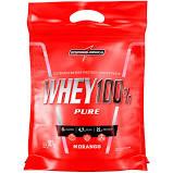 Whey 100% Pure Morango Sachê 907g Integralmedica