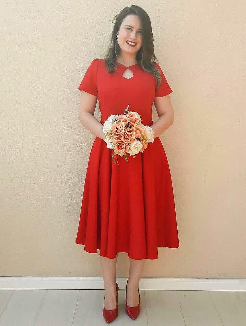 Vestido Godê Vermelho