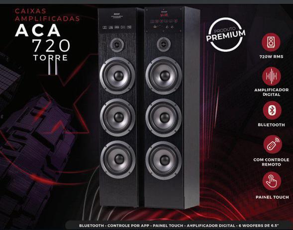Caixa de Som Amvox ACA 720 tipo Torre