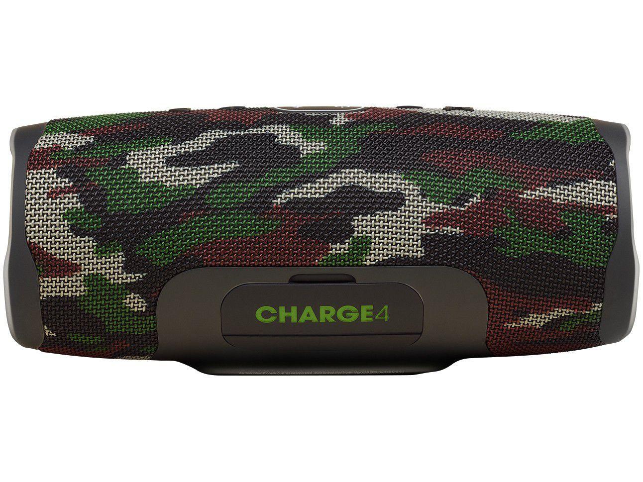 Caixa de Som Bluetooth JBL Charge 4 Portátil - à Prova de Água 30W USB