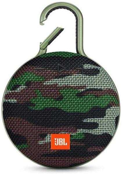 Caixa de som JBL Clip 3 portátil com bluetooth squad