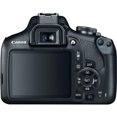 Câmera Eos Rebel Canon T7 + Lente EF-s 18-55mm IS