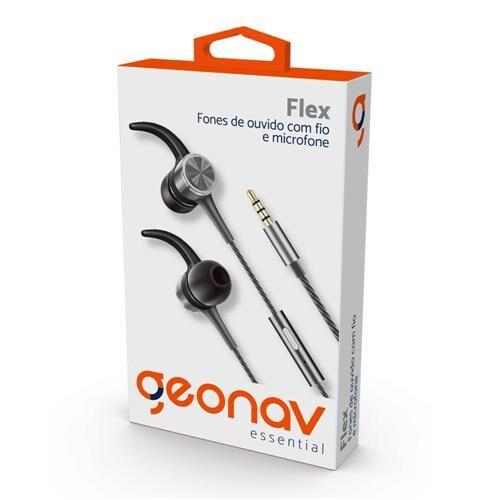 Fone De Ouvido Com Microfone Essential Geonav Cinza