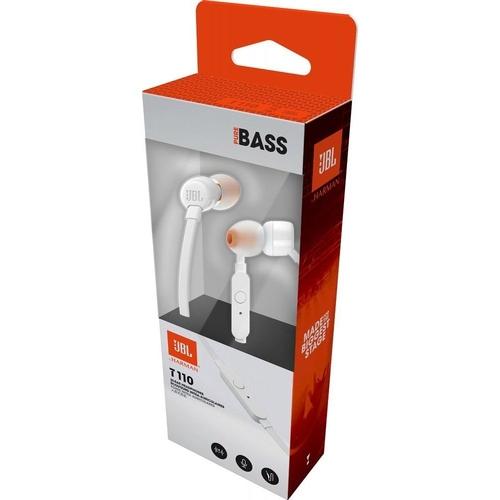 Fone de Ouvido JBL T110WHT Branco Com Microfone