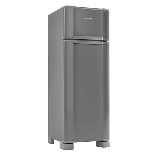 Geladeira Refrigerador Esmaltec 276L Duplex Inox RCD34 Cinza - 127v