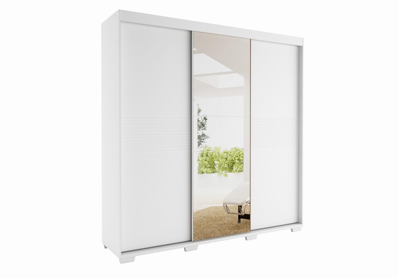 Guarda Roupa Rudnick 3 Portas com Espelho Jangada Branco