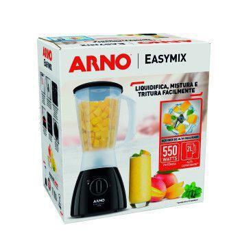 Liq ARNO Easymix 550W 2VEL - LN20 Preto 110 VOLTS