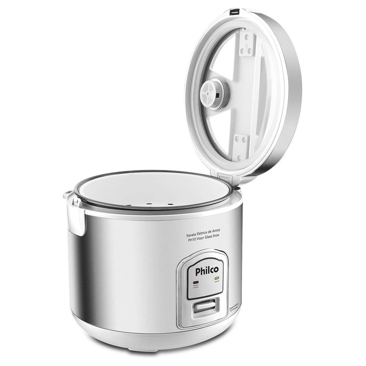 Panela de Arroz Philco 10 Xícaras PH10B Visor Glass Inox 127V