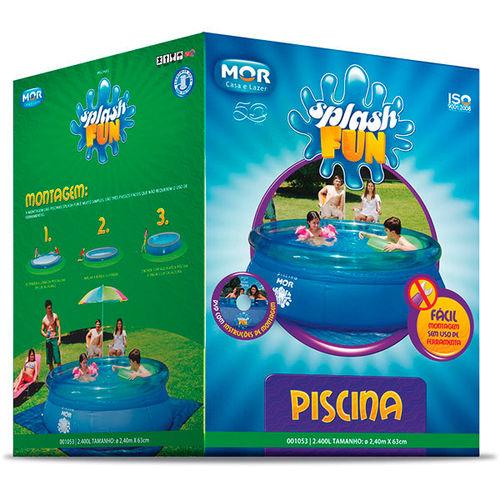 Piscina Inflável Redonda 2400 Litros Plástico Splash Fun Mor - 1053
