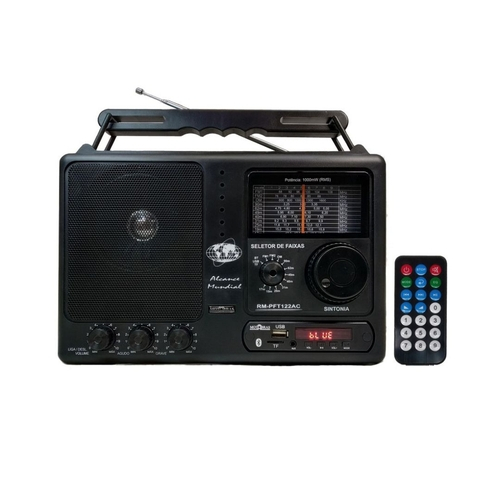 Rádio Portátil RM-PFT122AC 12 Faixas com BT - USB - MOTOBRAS