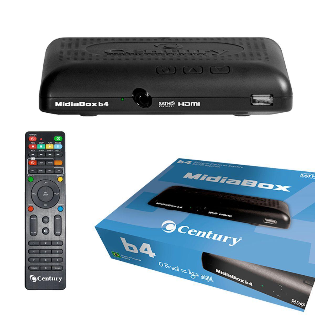 Receptor Midia Box Century HDTV B4