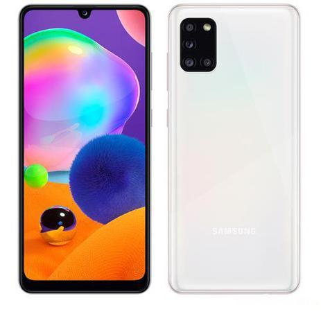 Samsung Galaxy A31 Branco, Tela de 6,4 , 4G, 128GB e Câmera de 48MP + 8MP + 5MP + 5MP - SM-A315GZWKZTO