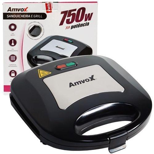 Sanduicheira Grill Amvox AMS 500 New 110v