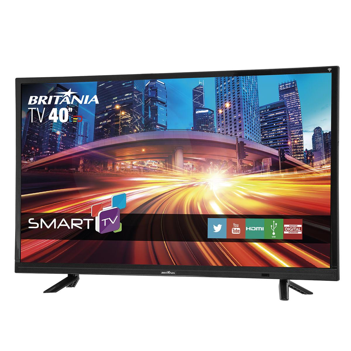 Smart TV Britânia 40 polegadas Full HD com Netflix