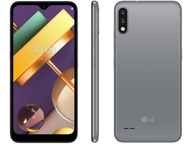 "Smartphone LG K22 32GB Titan 4G Quad-Core 2GB RAM - Tela 6,2"" Câm. Dupla + Selfie 5MP Dual Chip"