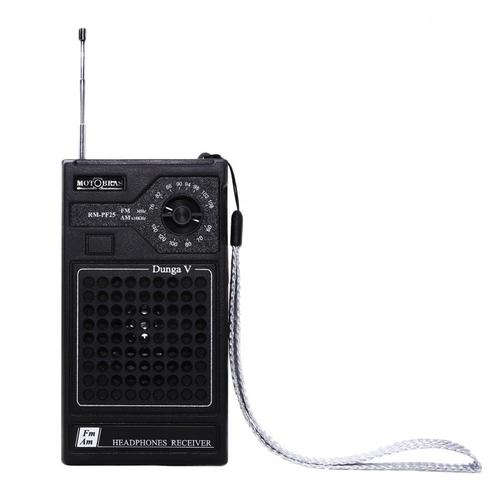 Som Portátil Motobras RM-PF25 Rádio FM e AM Fone de Ouvido 0.5W RMS