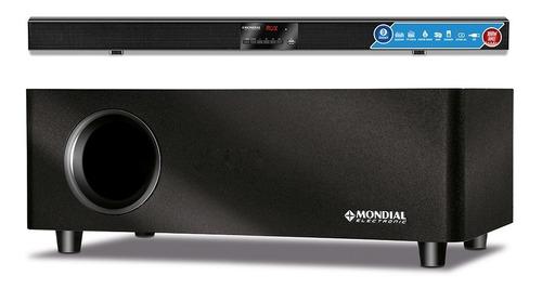 Soundbar Mondial Sb-03 100W Rms, Subwoofer, Conexão Sem Fio, Controle Remoto, Equalizador E Usb