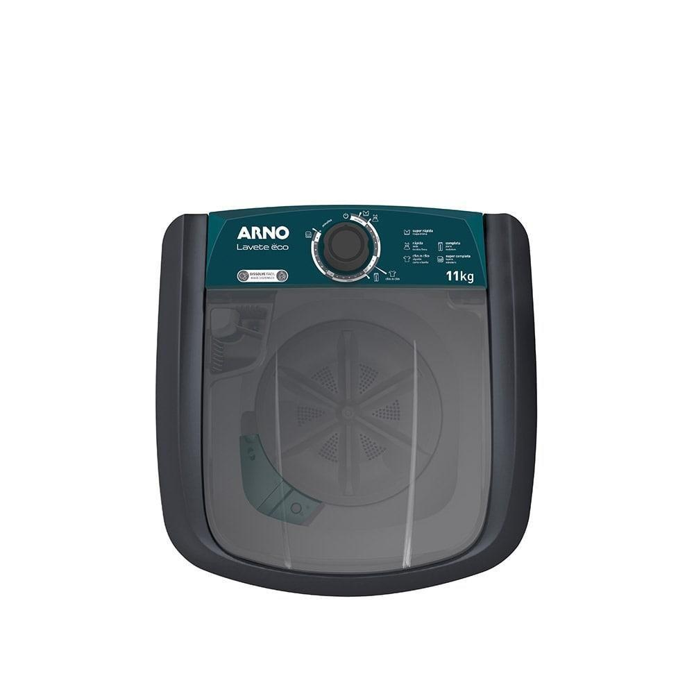 Tanquinho de Lavar Roupas Arno ML81 Lavete Eco Semi Automática 11Kg Cinza