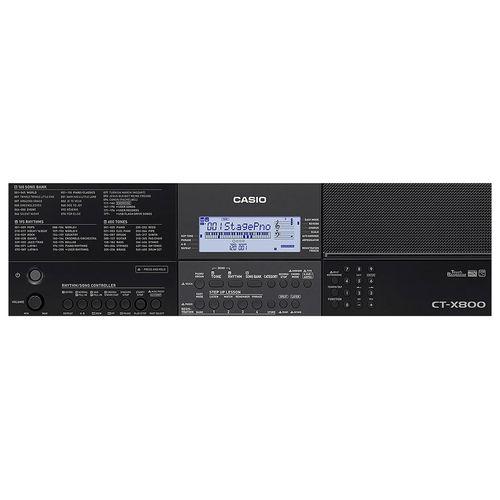 Teclado Digital Casio CT-X800 61 Teclas Preto