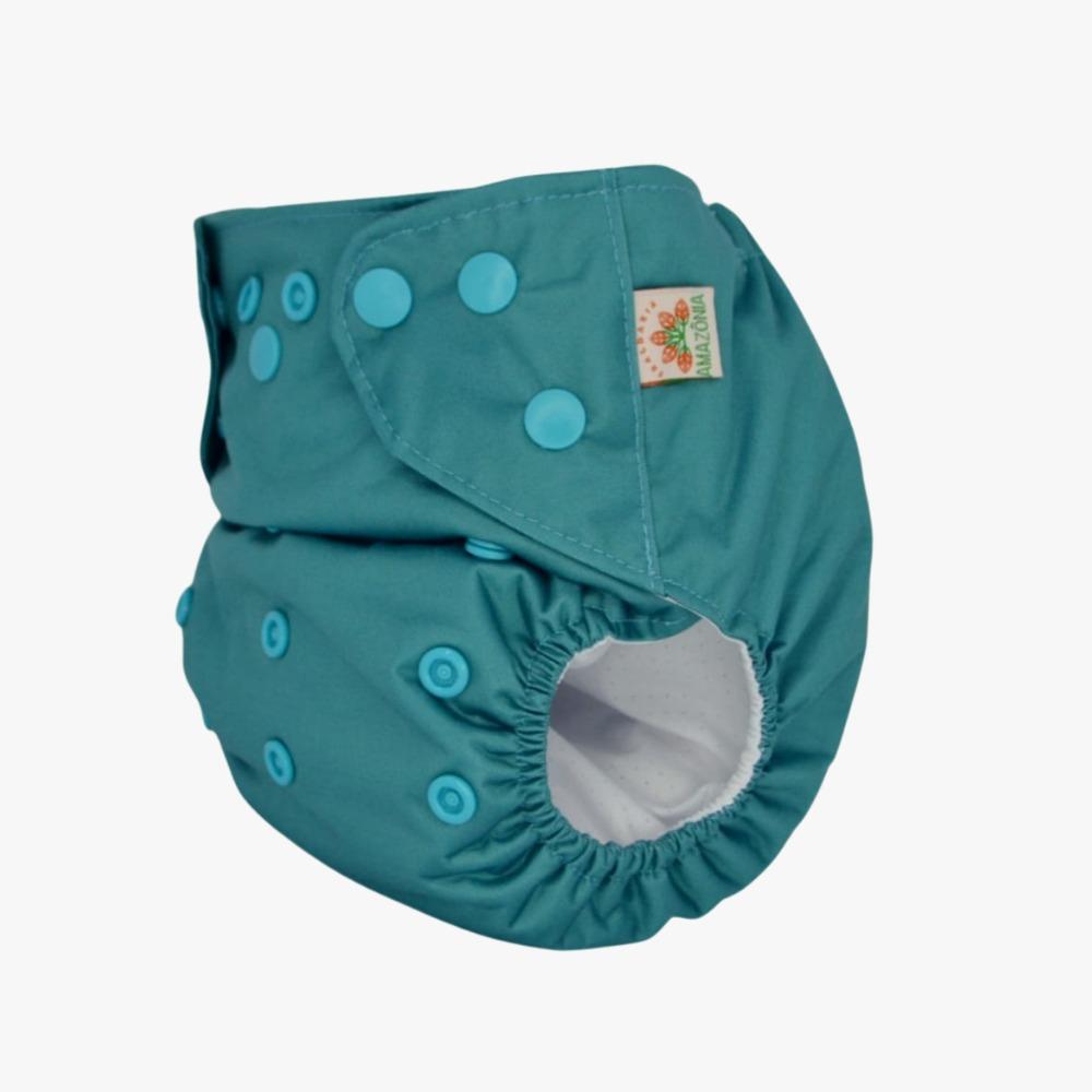 Capa para Fralda Ecológica Diurna 2 em 1 - Azul - Chá de fraldas