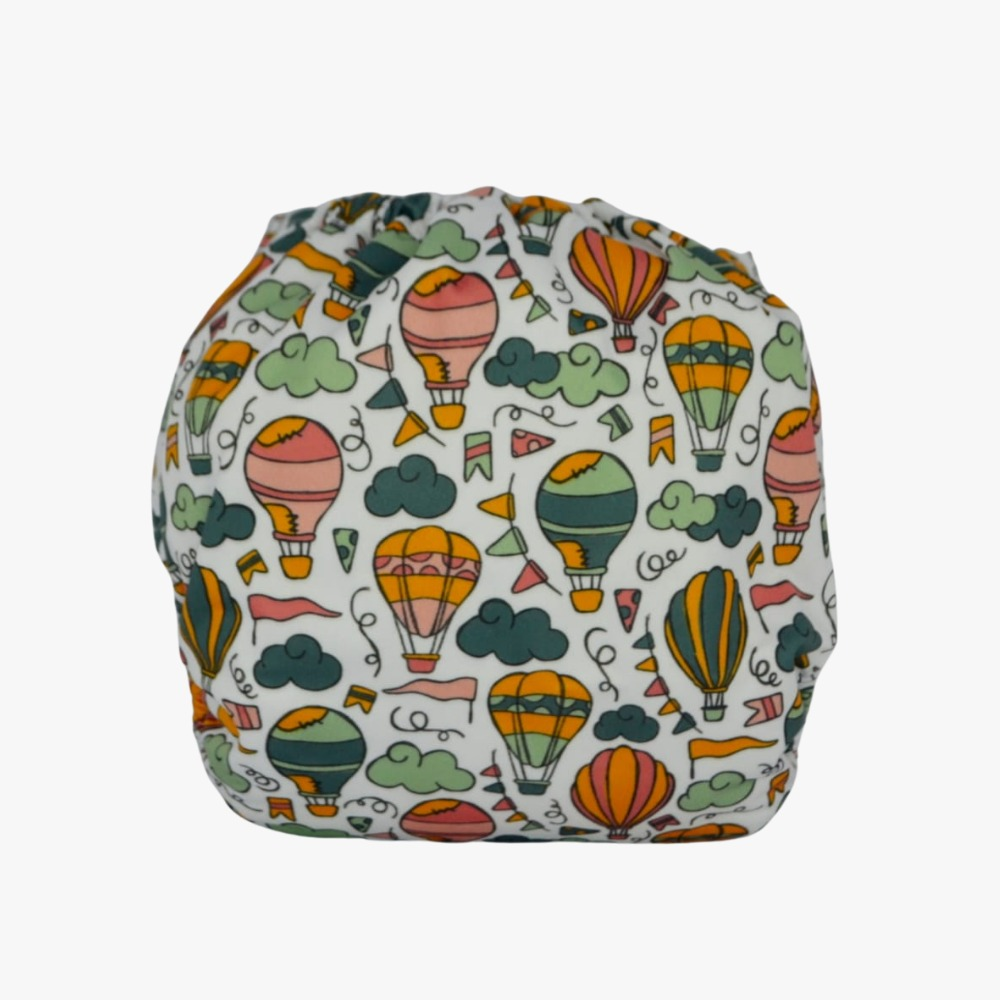 Capa para Fralda Ecológica Diurna de Bolso (Pocket) - Balões