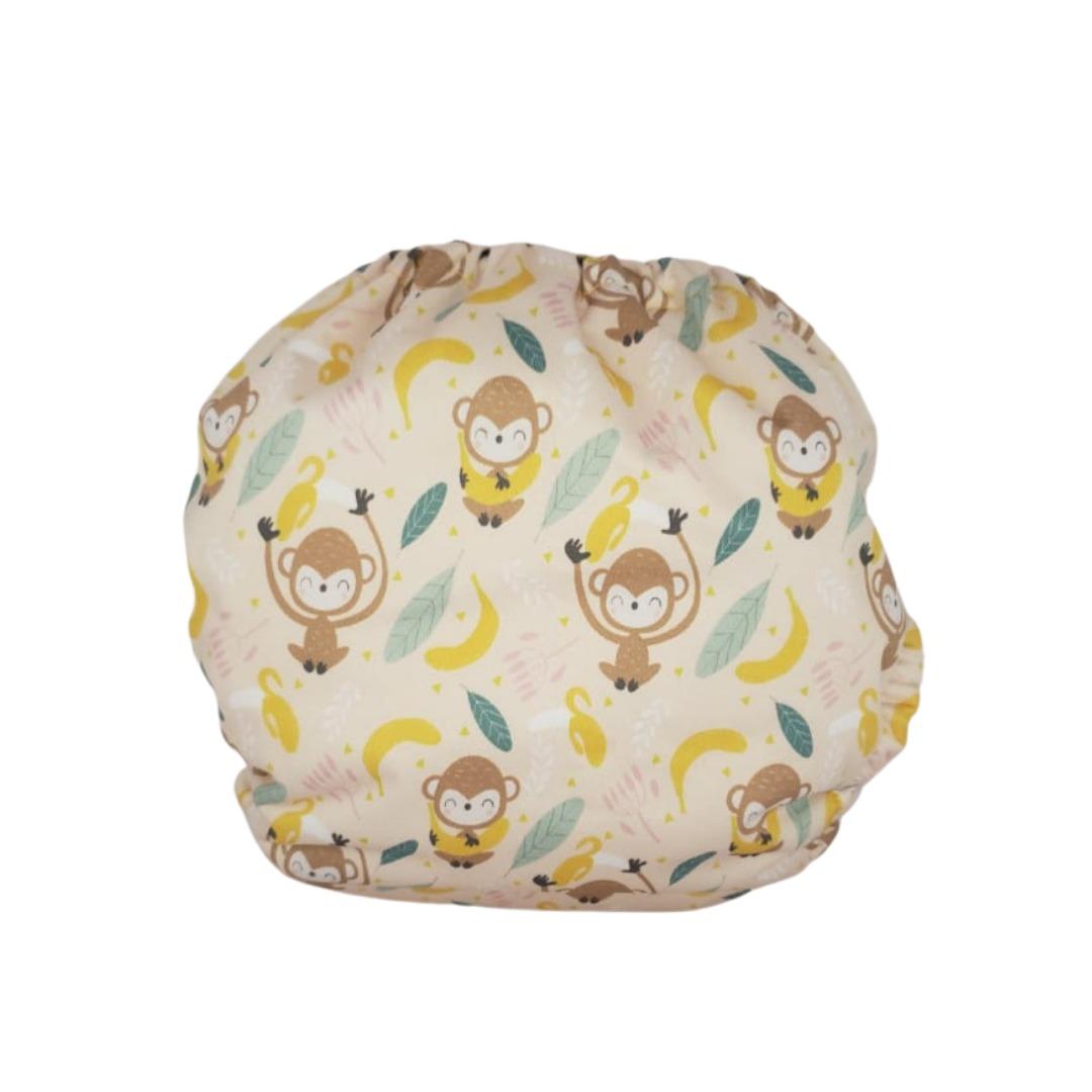 Capa para Fralda Ecológica Diurna de Bolso (Pocket) - Macacos