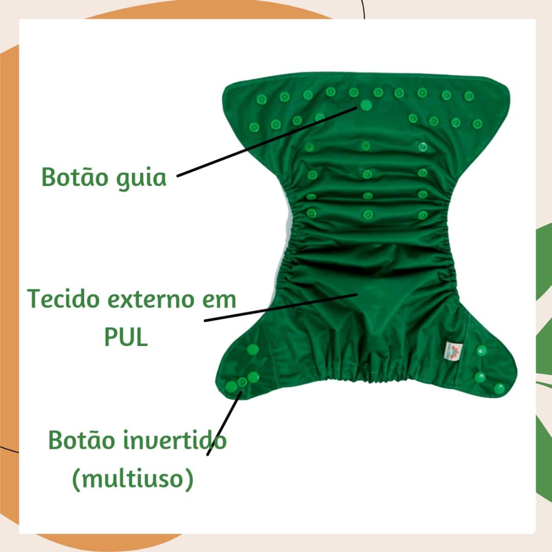 Capa para Fralda Ecológica Diurna de Bolso (Pocket) - Penas