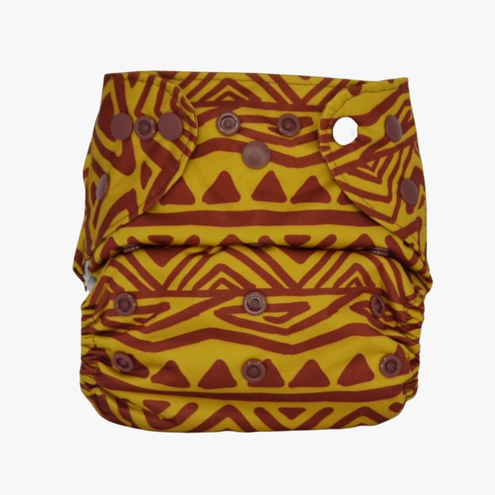 Capa para Fralda Ecológica Diurna de Bolso (Pocket) - Pintura Indígena