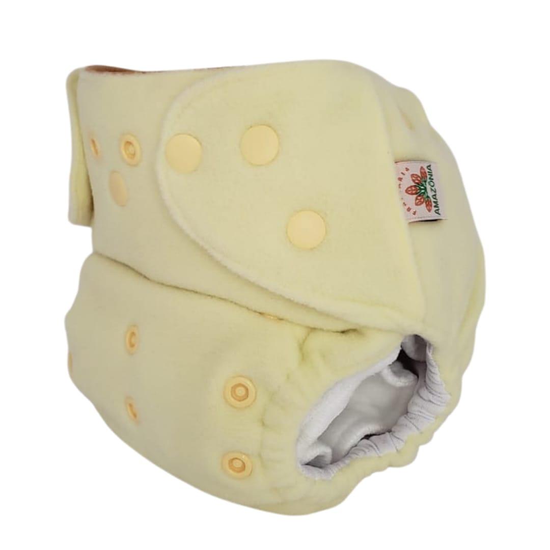 Capa para fralda ecológica Noturna - Amarela - Chá de fraldas