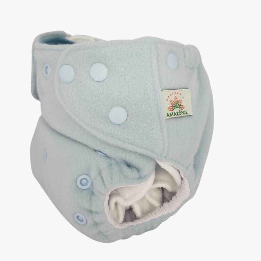 Capa para fralda ecológica Noturna - Azul bebê - Chá de fraldas