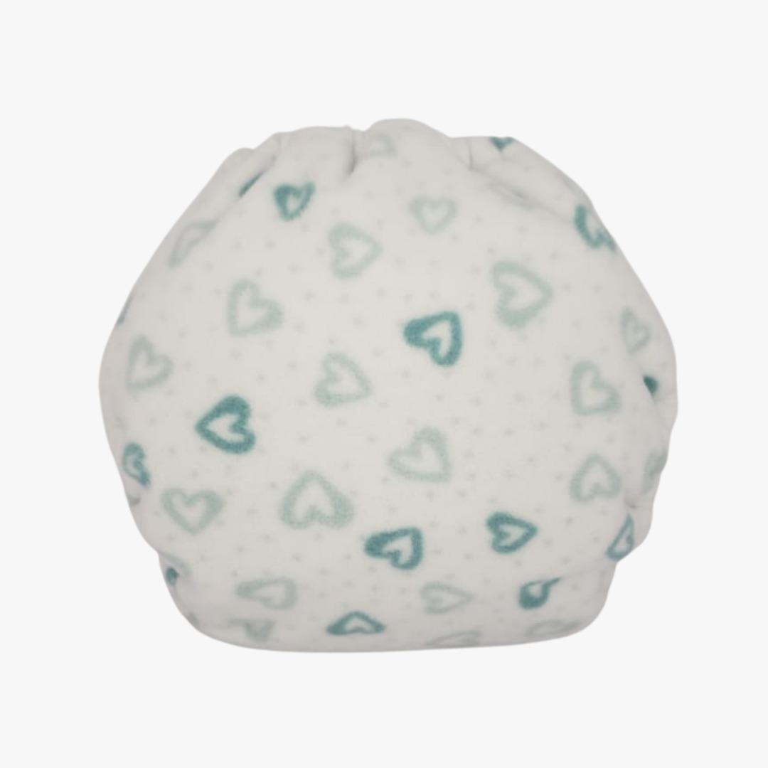 Capa para fralda ecológica Noturna - Corações verdes