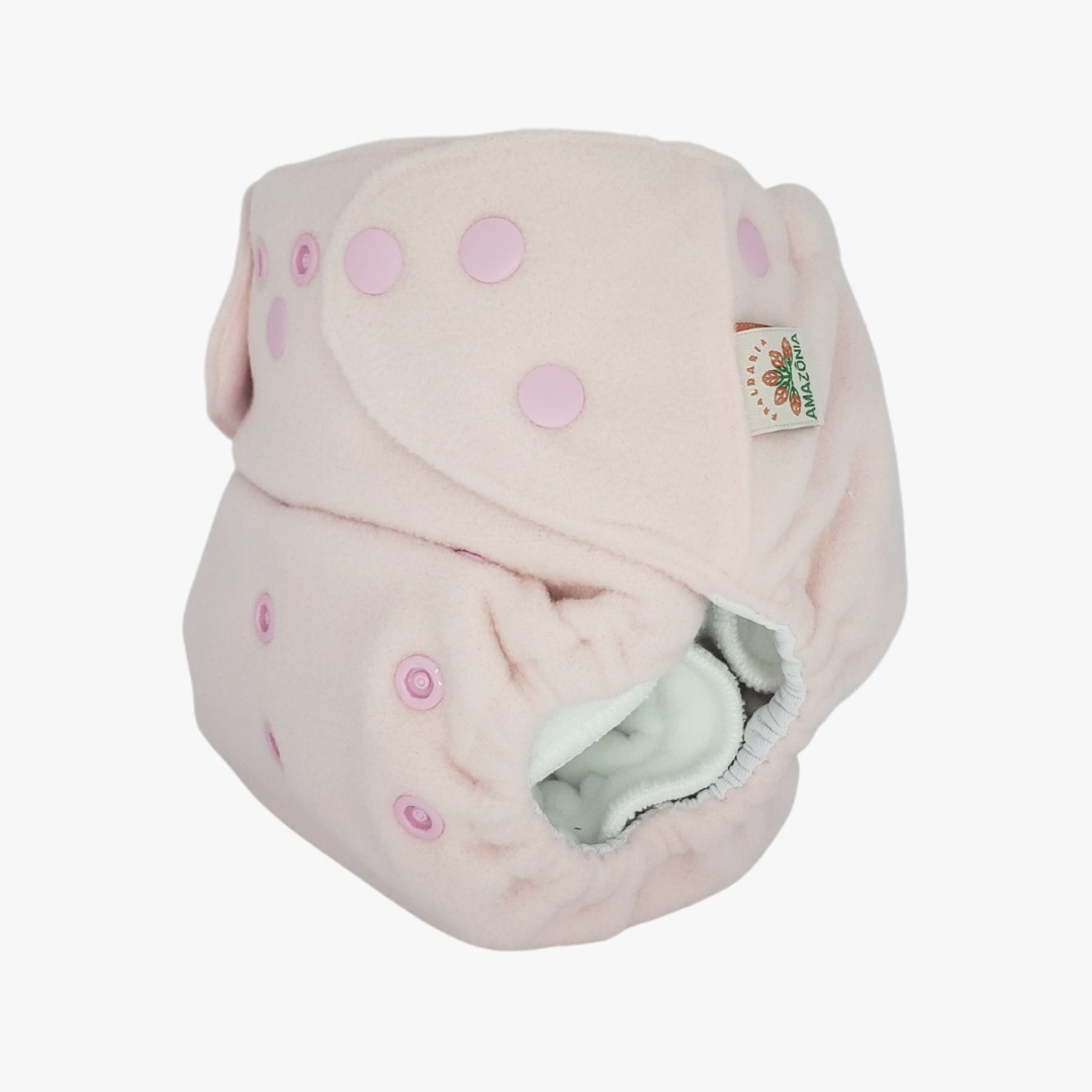 Capa para fralda ecológica Noturna - Rosa bebê
