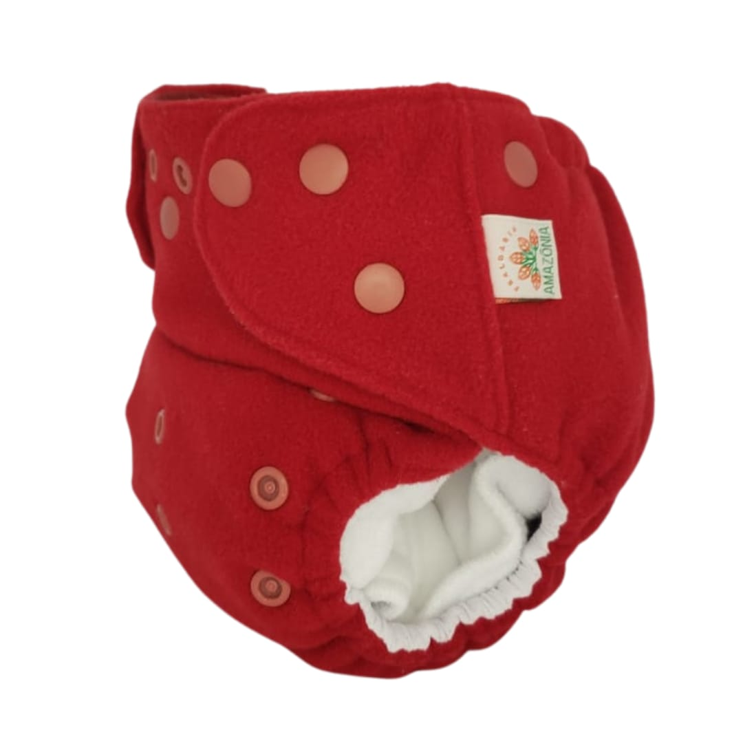 Capa para fralda ecológica Noturna - Vermelha - Chá de fraldas