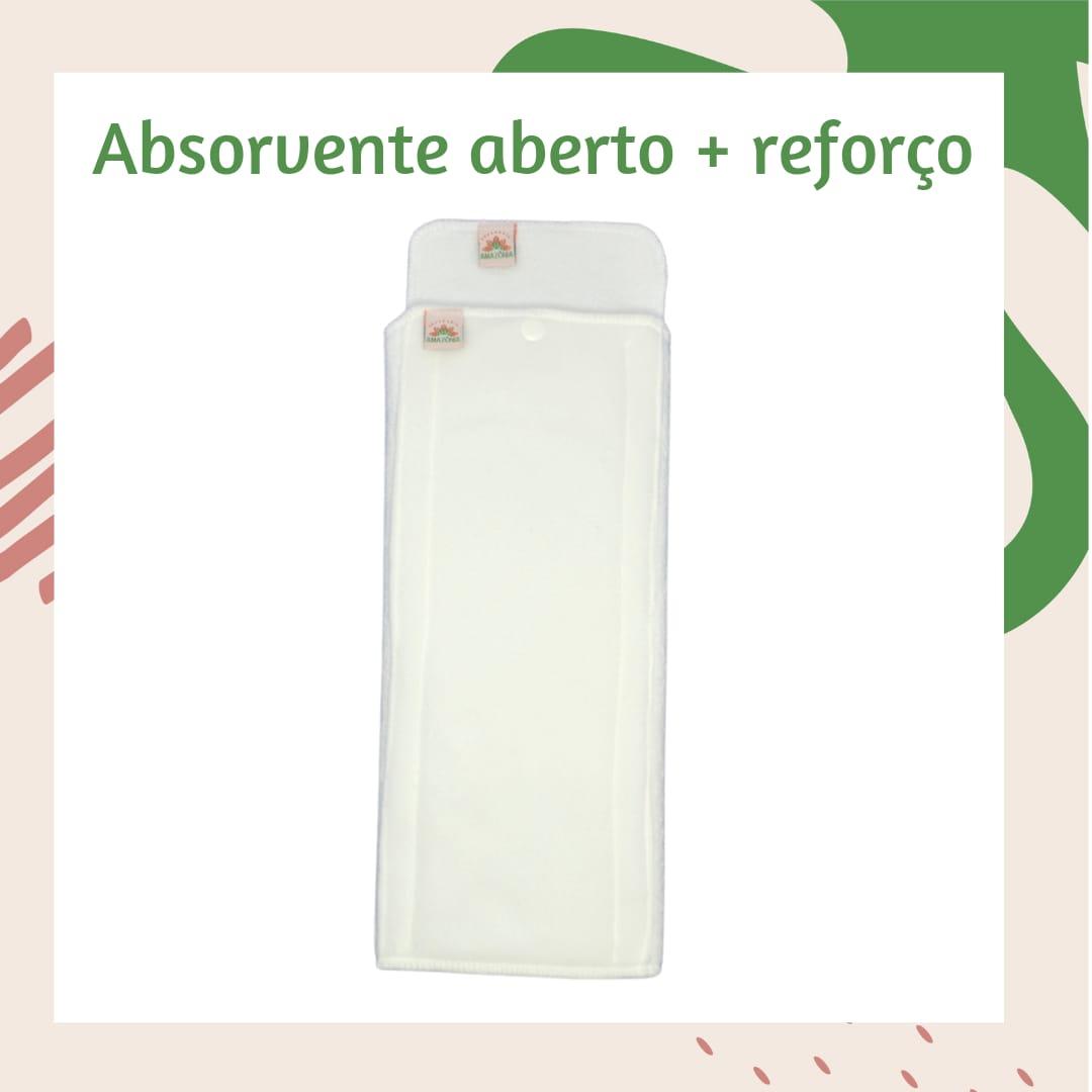 Dupla de absorventes: absorvente dobrável + absorvente reforço - Chá de Fraldas