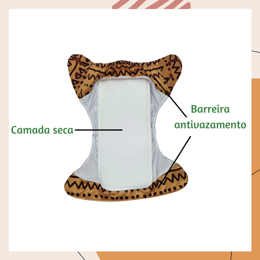 Fralda ecológica AIO - Goiaba