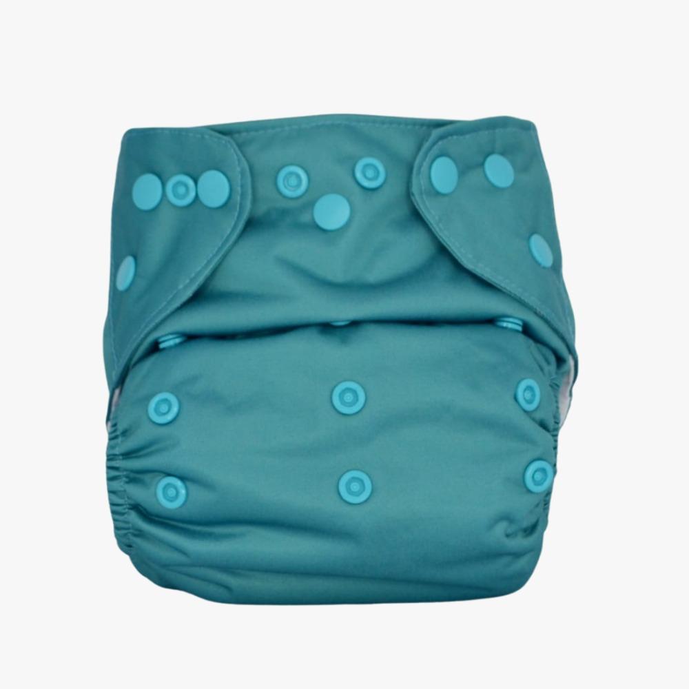 Fralda Ecológica Diurna 2 em 1 com dois absorventes - Azul