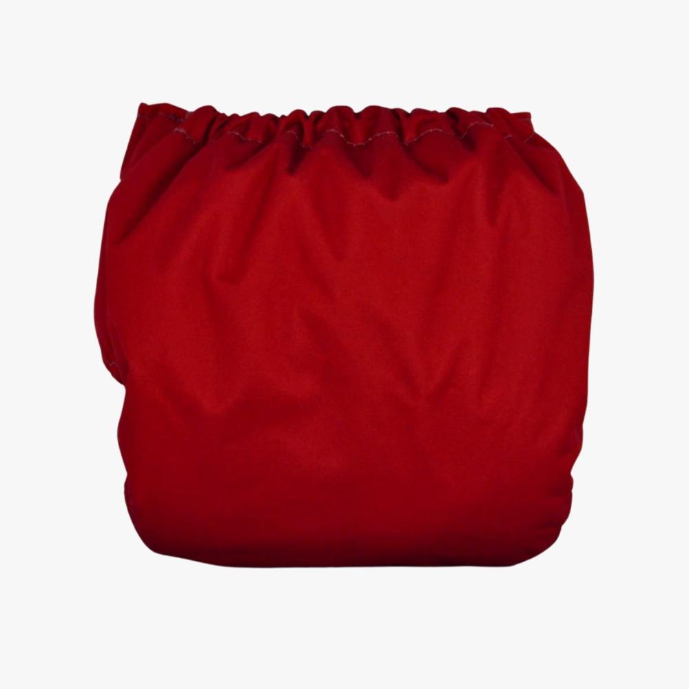 Fralda Ecológica Diurna 2 em 1 com dois absorventes  - Vermelha
