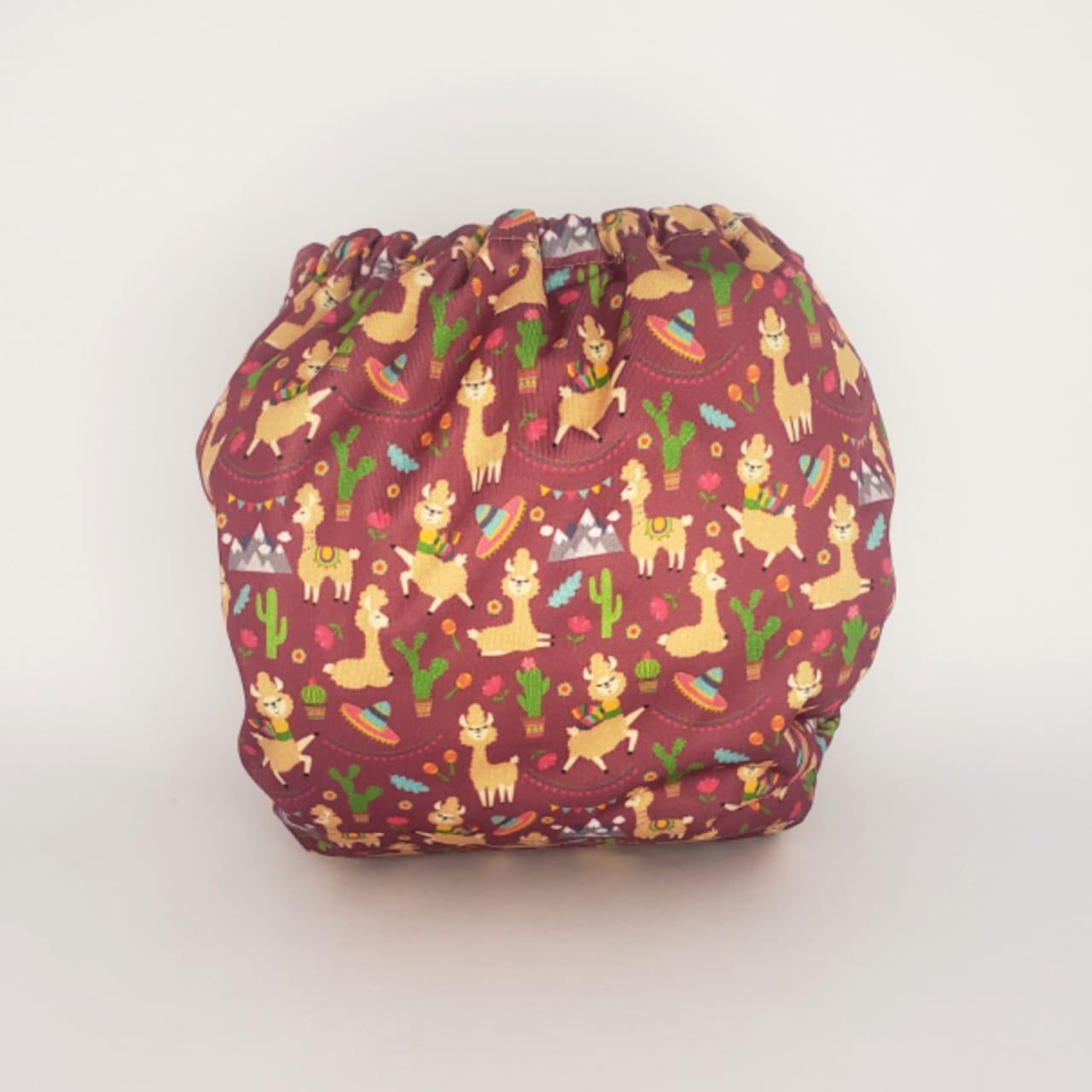 Fralda Ecológica Diurna de  Bolso (Pocket) com 2 absorventes  - Lhama