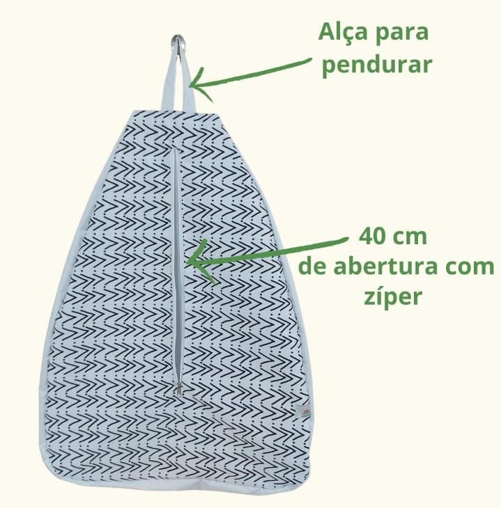 Sacola de lavanderia - Folhas