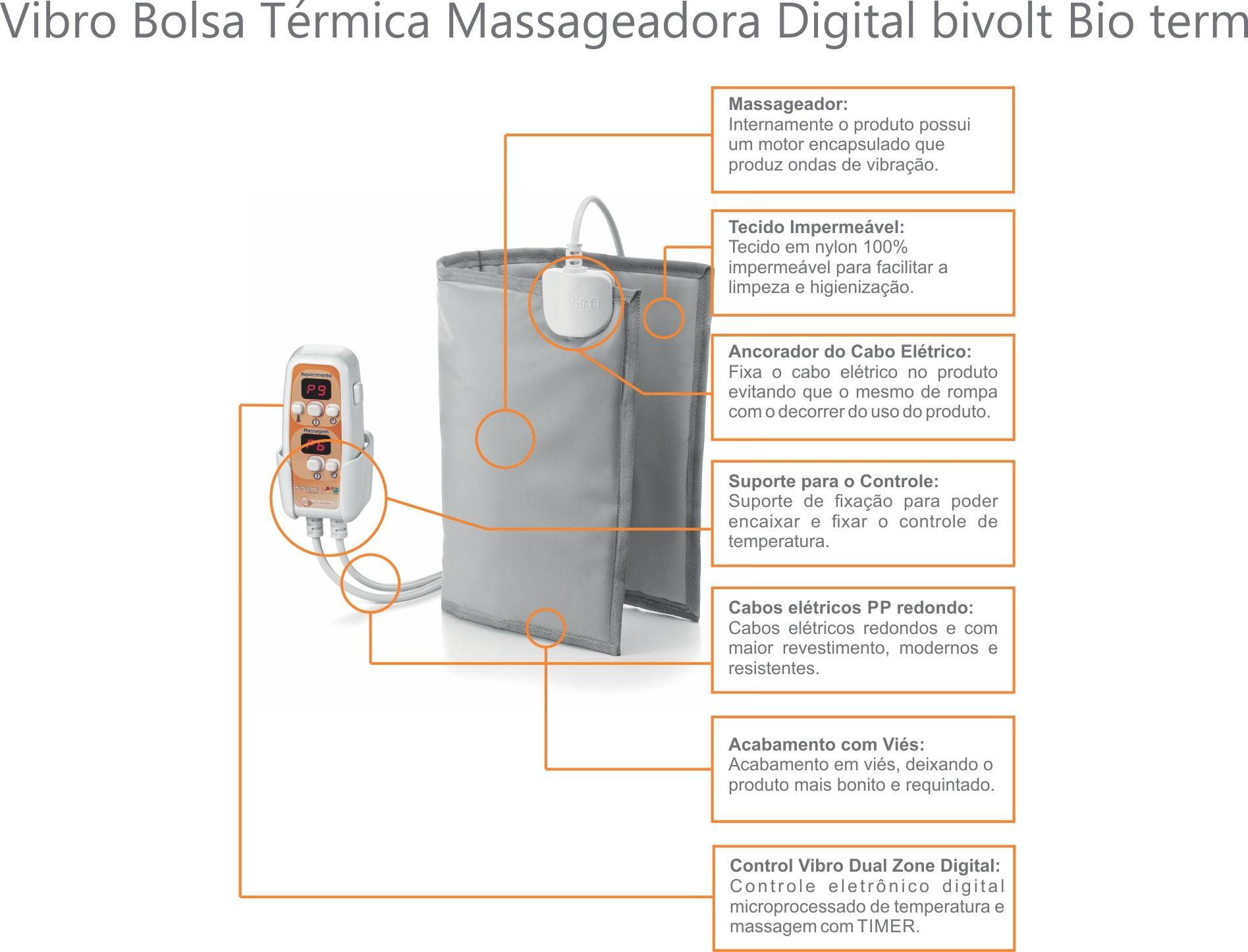 Bolsa Térmica Massageadora Bivolt Automático Bio Term