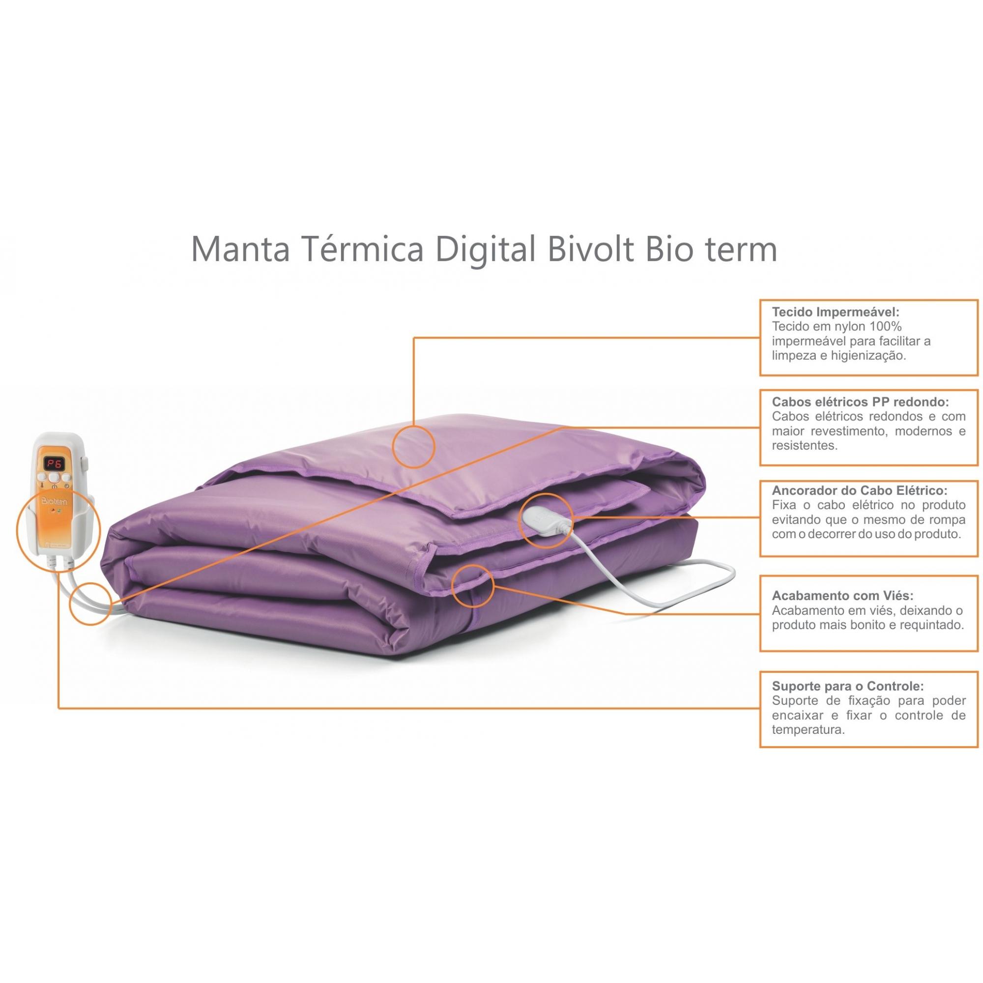 Manta Térmica Corpo Inteiro Digital Bivolt Automático Bio Term