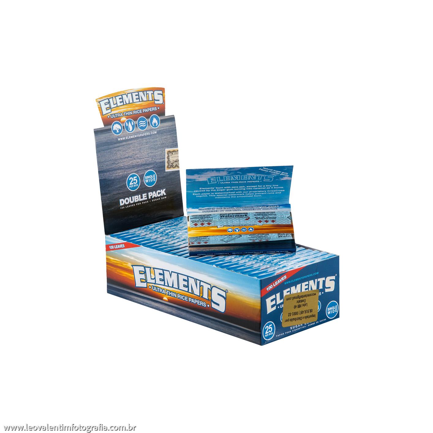Caixa de Seda Elements Single Wide Double Pack